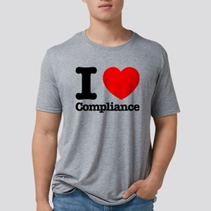 I Heart Compliance Mens Tri-blend T-Shirt