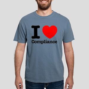I Heart Compliance Mens Comfort Colors Shirt