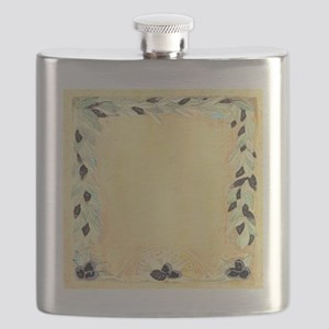 Mediterranean Olive Garland Design Perfect F Flask