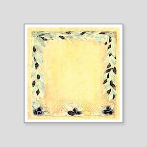 """Mediterranean Olive Garland Square Sticker 3"""" x 3"""""""