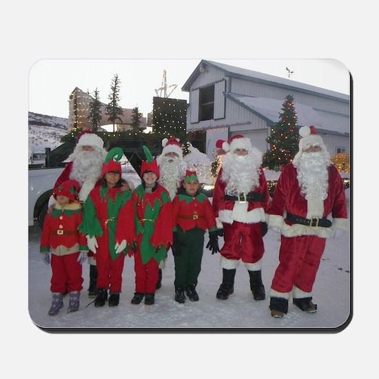 Santa and his elves Mousepad