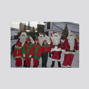 Santa and his elves Rectangle Magnet