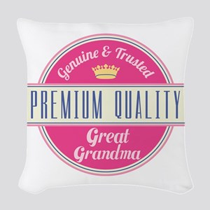 Premium Quality Great Grandma Woven Throw Pillow