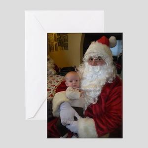 Santa and his newest elf Greeting Card