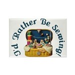 I'd Rather Be Sewing! Rectangle Magnet (10 pack)