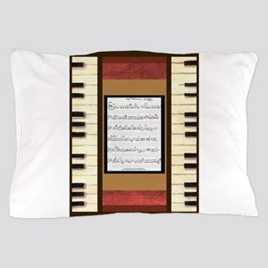 Piano Keys Sheet Music Song 5x7 Pillow Case