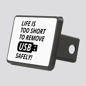 Remove USB Safely Rectangular Hitch Cover