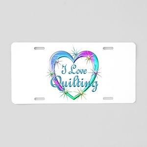 I Love Quilting Aluminum License Plate