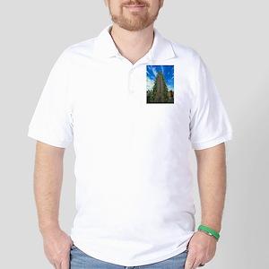 Empire State Building Christmas Tree Golf Shirt