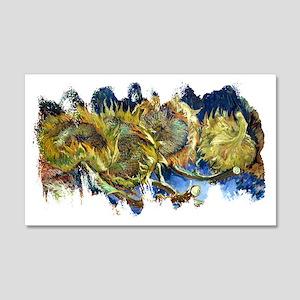 Four Cut Sunflowers by Van Gogh 20x12 Wall Decal