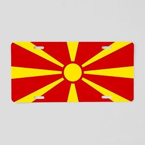 Macedonia Aluminum License Plate