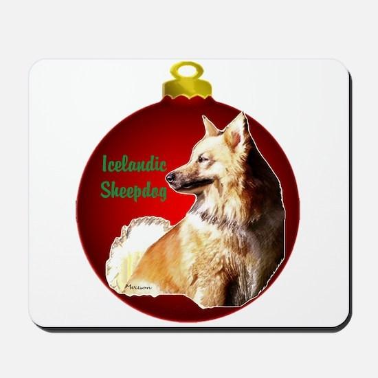 Icelandic Sheepdog christmas Mousepad