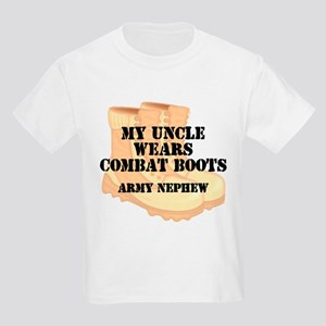 Army Nephew Uncle Desert Combat Boots T-Shirt