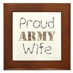 Proud Army Wife ver2 Framed Tile