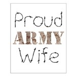 Proud Army Wife ver2 Small Poster