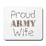 Proud Army Wife ver2 Mousepad