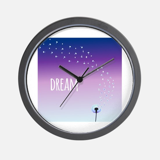 Dream Dandelion Wall Clock