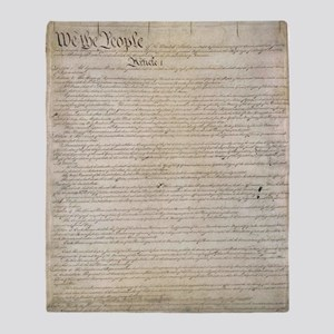 United States Constitution Throw Blanket