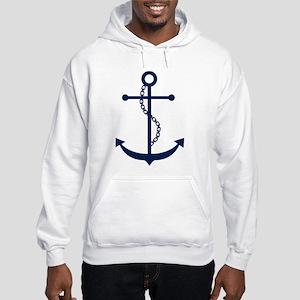 Blue Anchor Hooded Sweatshirt