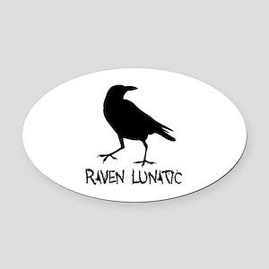 Raven Lunatic - Halloween Oval Car Magnet