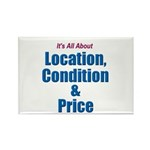 Location, Condition and Price Rectangle Magnet (10