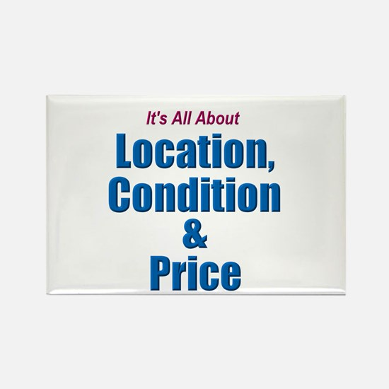 Location, Condition and Price Rectangle Magnet