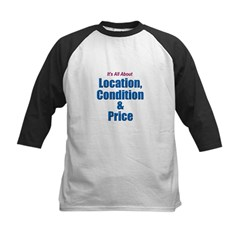 Location, Condition and Price Kids Baseball Jersey