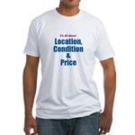 Location, Condition and Price Fitted T-Shirt