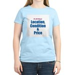 Location, Condition and Price Women's Pink T-Shirt