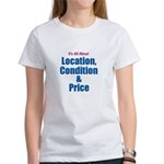Location, Condition and Price Women's T-Shirt