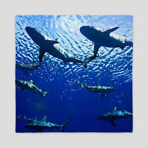 Sharks Underwater Queen Duvet