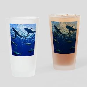 Sharks Underwater Drinking Glass