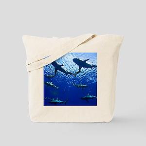 Sharks Underwater Tote Bag