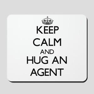 Keep Calm and Hug an Agent Mousepad