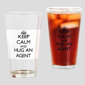 Keep Calm and Hug an Agent Drinking Glass