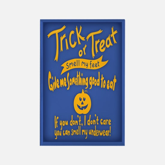 Trick or Treat Feet Rectangle Magnet