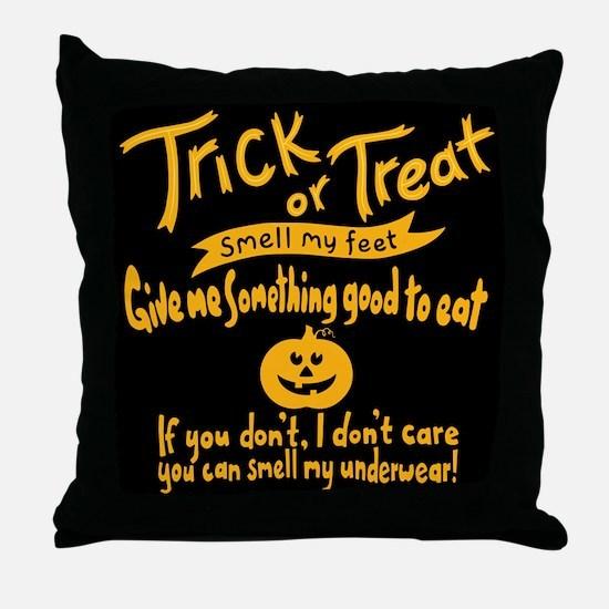 Trick or Treat Feet Throw Pillow