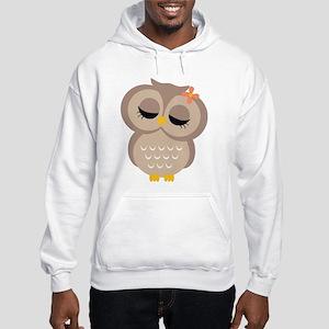 Single Girl Owl Hooded Sweatshirt