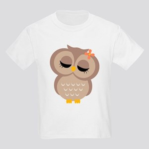 Single Girl Owl Kids Light T-Shirt
