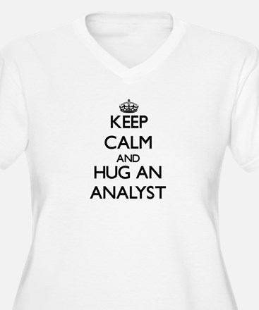 Keep Calm and Hug an Analyst Plus Size T-Shirt