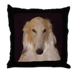 Borzoi Sophisticate Throw Pillow