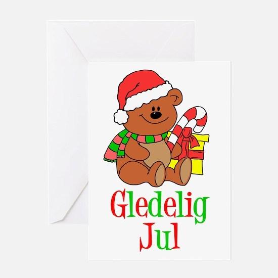 Gledelig Jul Norwegian Greeting Card