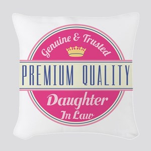 Premium Quality Daughter-in-Law Woven Throw Pillow