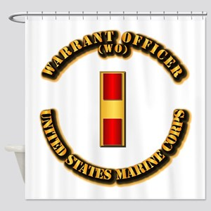 USMC - Warrant Officer - WO Shower Curtain