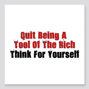 Tool Of The Rich Square Car Magnet 3&Quot; X 3&Quo