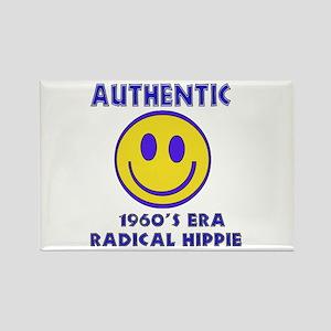 Authentic 1960'S Era Radical Hippie Rectangle Magn