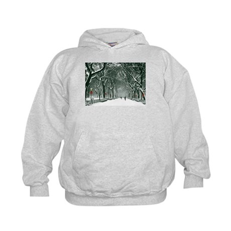 Central Park Snowy Path Hoodie