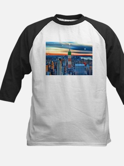Empire Bldg NY Skyline Baseball Jersey