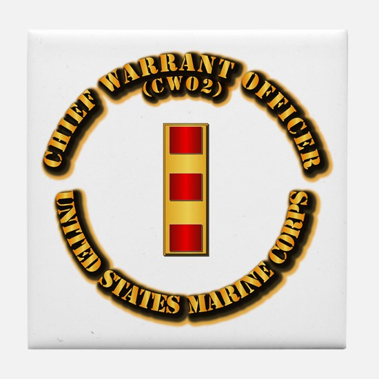 USMC - Chief Warrant Officer - CW2 Tile Coaster