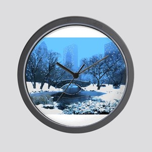 central-park-new-york-winter1 copy Wall Clock